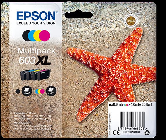 originales Multipack zu Epson 603XL (BK/C/M/Y)