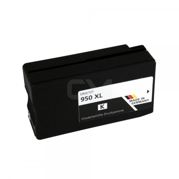 wiederbefüllte Patrone für HP950XL Schwarz
